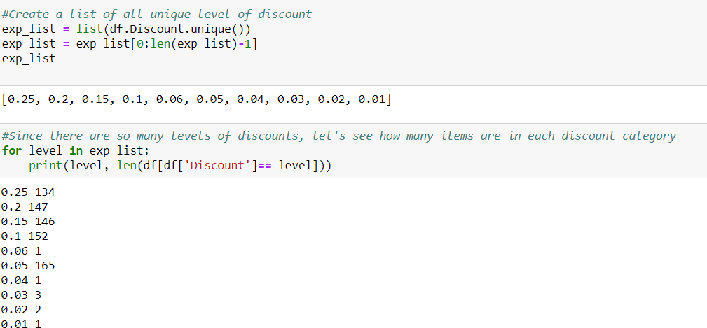 5 discount list